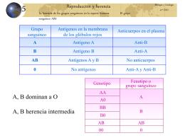 Grupos sanguineos - Colegio Albariza