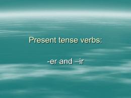 er-ir verbs