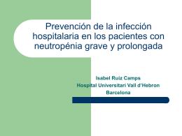 Prevención de la infección hospitalaria en los pacientes con