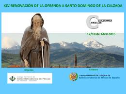XLV Renovación de la Ofrenda a Santo Domingo de la Calzada