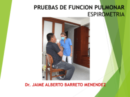 Espirometría y Curva flujo volumen
