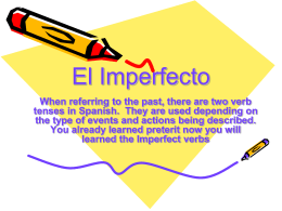 El Imperfecto - My Spanish Class