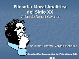 Filosofía Moral Analítica del Siglo XX Visión de