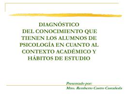 5. Diagnóstico del conocimiento que tienen los alumnos de