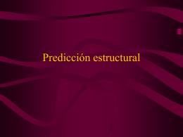 Prediccíón estructural