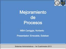 Clase 13 - Mejoramiento de los procesos