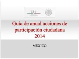 Presentación ejecutiva. - Programa Anticorrupción
