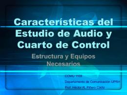 Estudio y Cuarto de Control de Audio