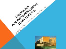 ORIENTACIÓN CUARTO DE E.S.O.