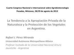 Cuarto Congreso Nacional e Internacional sobre Agrobiotecnología