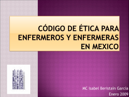 código de ética para enfermeros y enfermeras en mexico