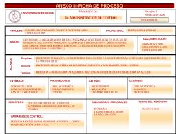 F-PROCESOS-CEN-01 - Universidad de Huelva