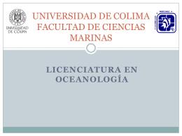 plan-oceanología-colima - Facultad de Ciencias Marinas