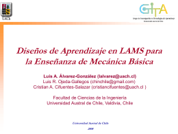 Diseños de Aprendizaje en LAMS para la Enseñanza de Mecánica