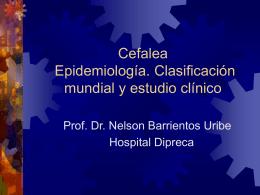 Cefalea Epidemiología. Clasificación mundial y