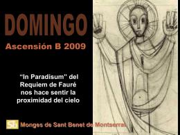 Evangelio Ascensión del Señor.24-5-09