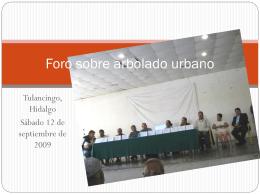 Foro en Tulancingo - Asociación Mexicana de Arboricultura