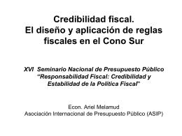 Reglas fiscales en Argentina: El caso de la Ley de