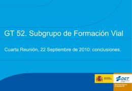 GT 52 Subgrupo Formación 4ª Reunión conclusiones