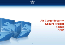 Air Cargo Security – Complejidades de la carga | IATA