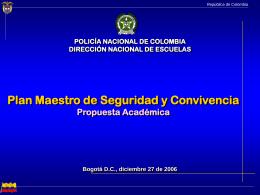 Plan Maestro - Policía Nacional de Colombia