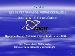Ley de firma digital y certificaciones digitales