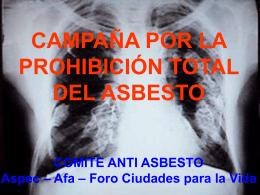 Campaña por la prohbición del asbesto