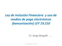 presentación de Cr. Bergalli - Cámara Nacional de Comercio y