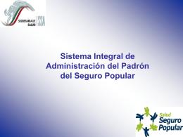 coordinación general del seguro popular