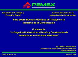 La Seguridad Industrial en Petróleos Mexicanos