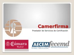 Certificados - Cámara de Madrid