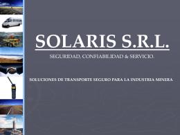 Slide 1 - SOLARIS - Transporte para minería y turismo