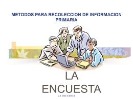 la encuesta - Universidad del Cauca