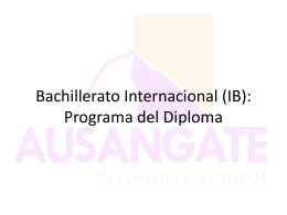 Bachillerato Internacional (IB): Programa del Diploma