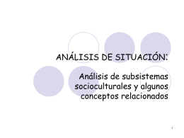Power Point 3: Identificación de subsistemas culturales