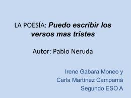 LA POESÍA Autor: Pablo Neruda