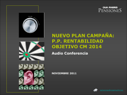 PP RENTABILIDAD OBJETIVO CM 2014 Audio