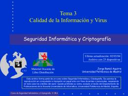 Calidad de la Información y Virus