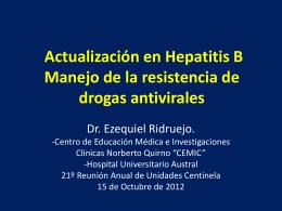 Manejo de la resistencia de drogas antivirales