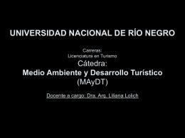 Pw6 TurSosten CDC - Universidad Nacional de Río Negro