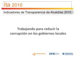 ÍTA 2010 - Transparencia Venezuela