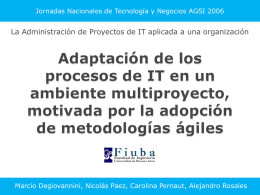 Ambientes multiproyecto