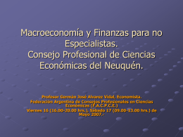 Macro y Finanzas para no especialistas