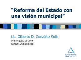 Reforma del Estado con una visión municipal