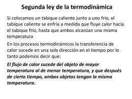 Fisica 9 2a. ley de la termodinamica