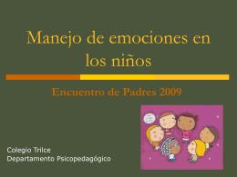 Manejo de emociones en niños