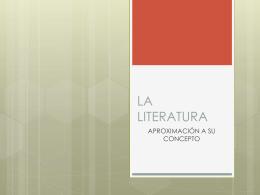 GENERO NARRATIVO - literaturamistral