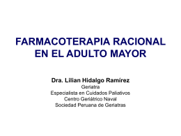 Farmacoterapia racional en el adulto mayor