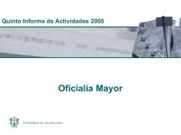 1. Informe Oficiaría Mayor - Consejo de Rectores