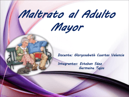 Maltrato al Adulto Mayor